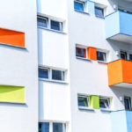 modern and colorful appartment building in Berlin, Germany